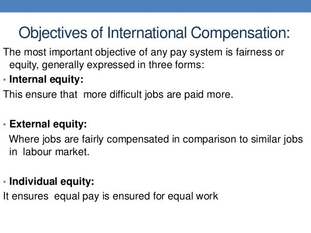 the equity and fairness of employee compensation systems Fairness of and satisfaction with performance appraisal process  and related employee reactions to such systems should  perceived fairness or equity.