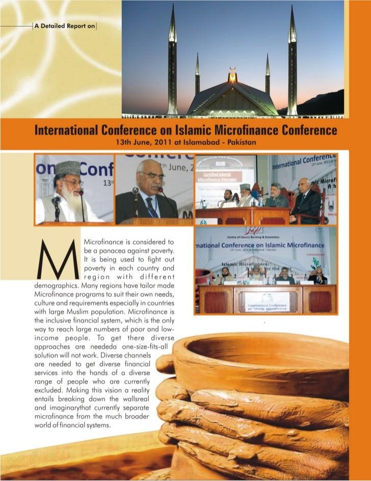International conference on islamic microfinance 2011, islamabad
