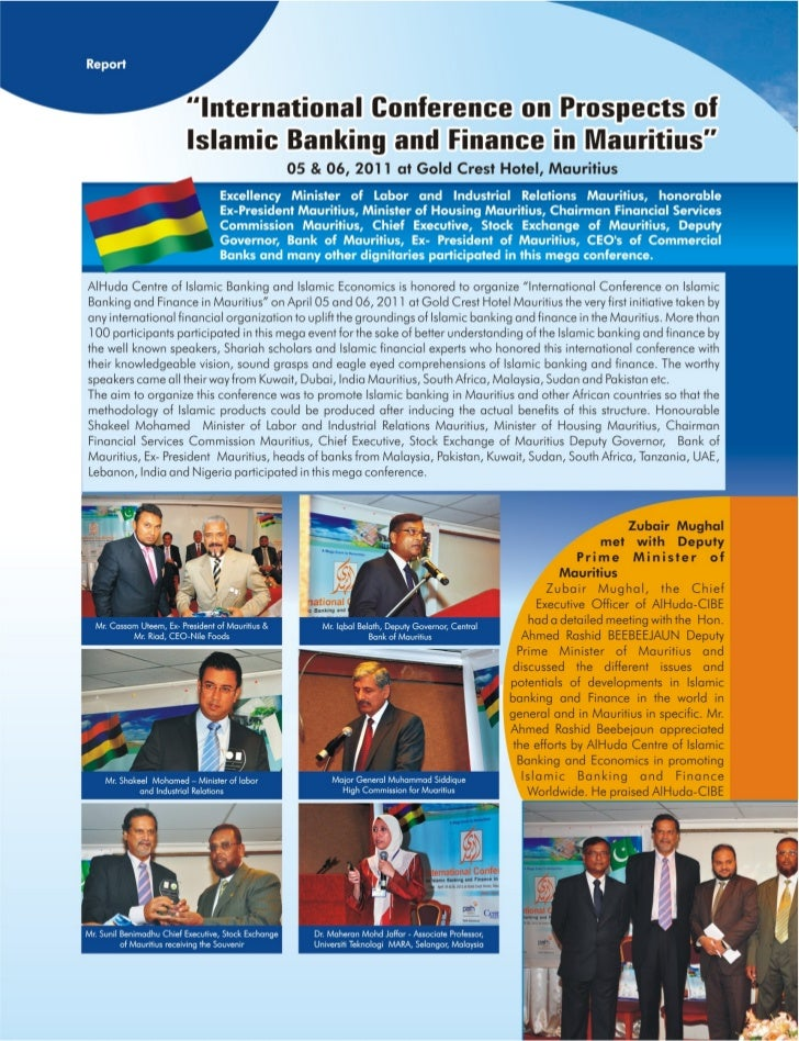 International conference on prospects islamic banking and finance in mauritius, 2011