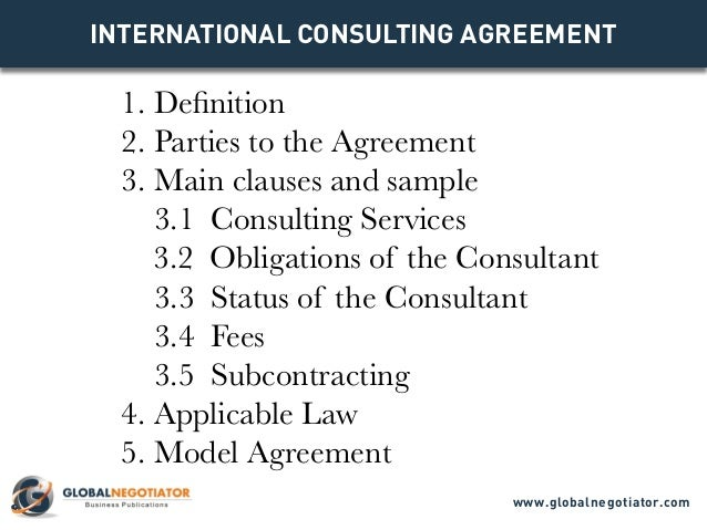International Consulting Agreement Template