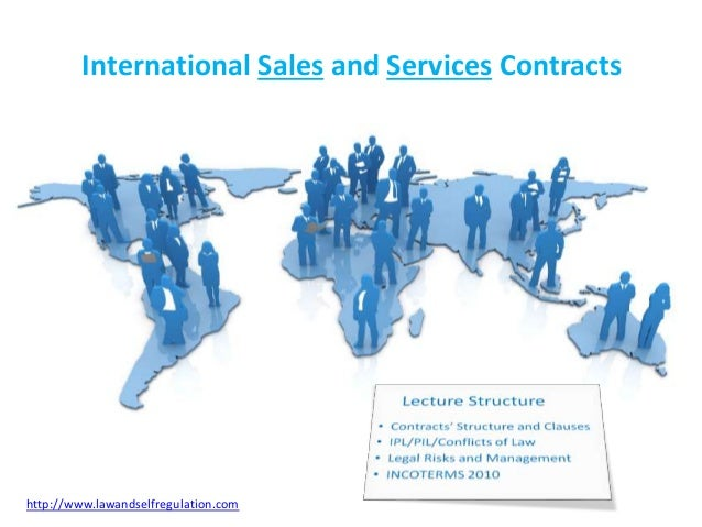 international sales contract Think you don't need to use an international sales contract because you don't use  them for domestic sales think again.