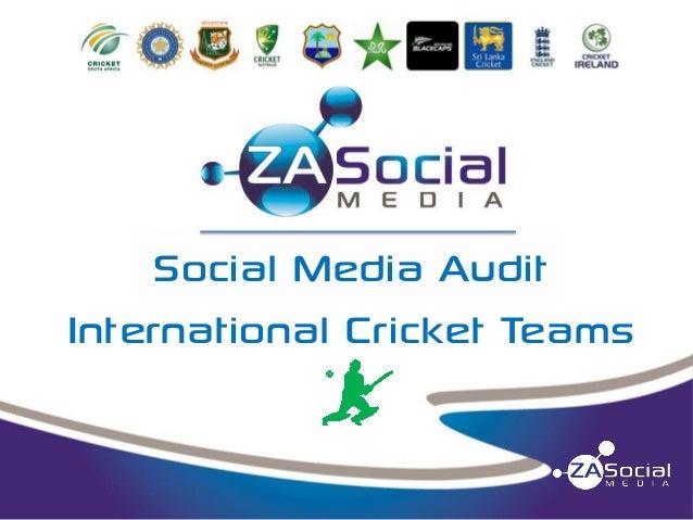 Social Media Audit International Cricket Teams