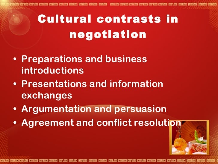 international negotiation culture Dimensions of success in international business negotiations: a comparative study of thai and international business negotiators haruthai putrasreni numprasertchai.
