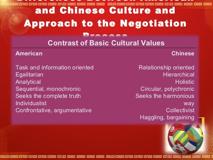 relationship oriented and information cultures in america