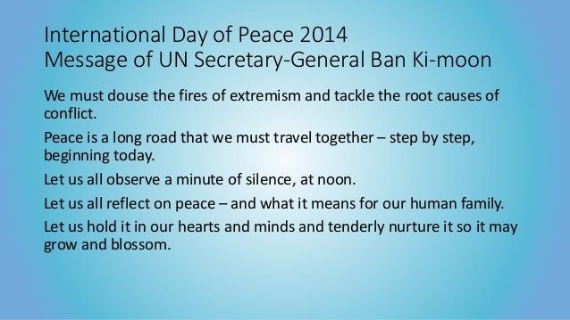 International Day of Peace 2014 Slide 2
