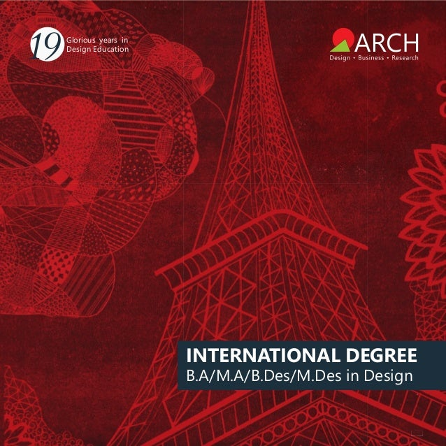 International Degree Courses By Arch College Of Design Business