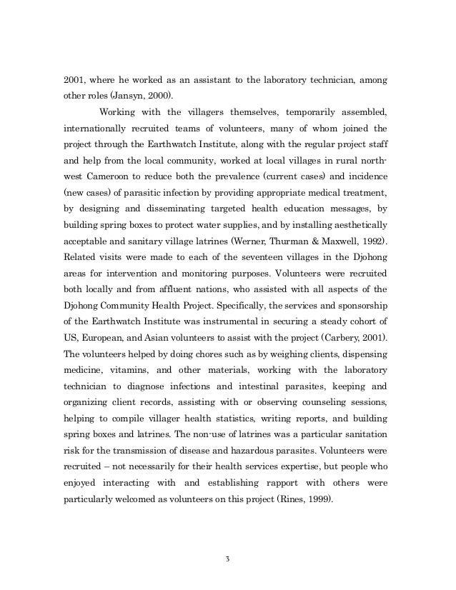volunteer work essay