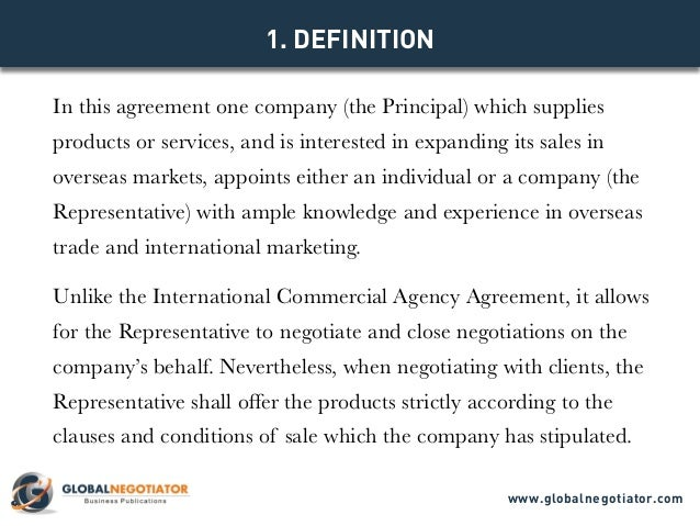 International sales representative agreement template model agreement globalnegotiator 2 platinumwayz