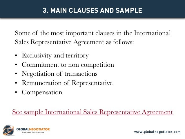 International sales representative agreement template parties to the agreement globalnegotiator 4 platinumwayz