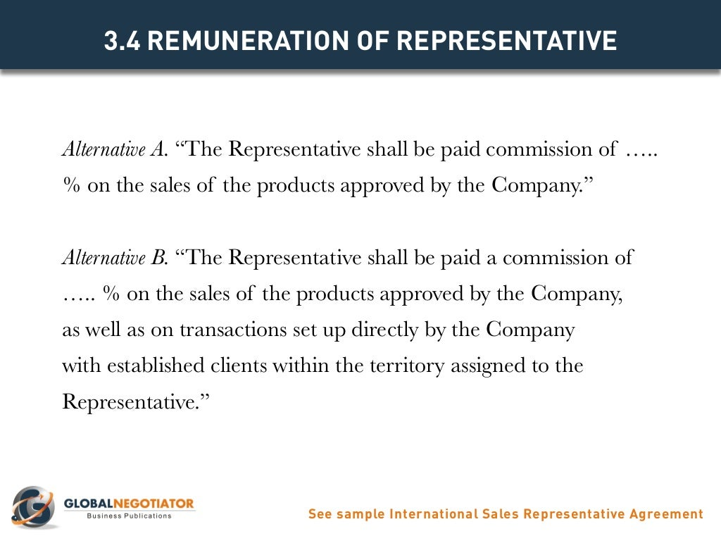 International sales representative agreement template platinumwayz