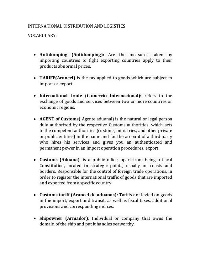 logistics essay Purpose: to introduce the issue of the transportation and logistics chains finding: outlines how the individual papers affect debate.