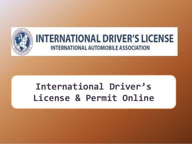 International Driver's License & Permit Online