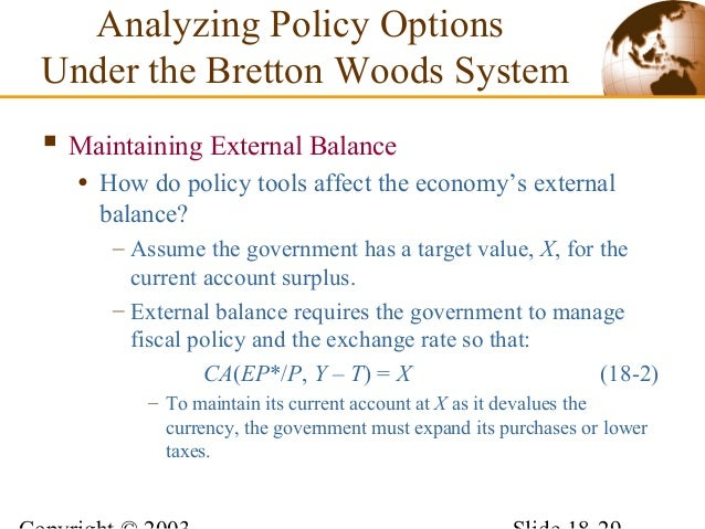 Why did the bretton woods system