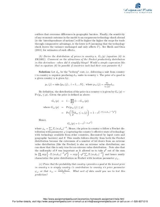 Economics homework help