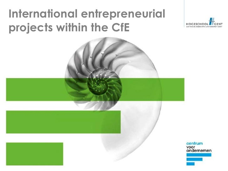 International entrepreneurialprojects within the CfE