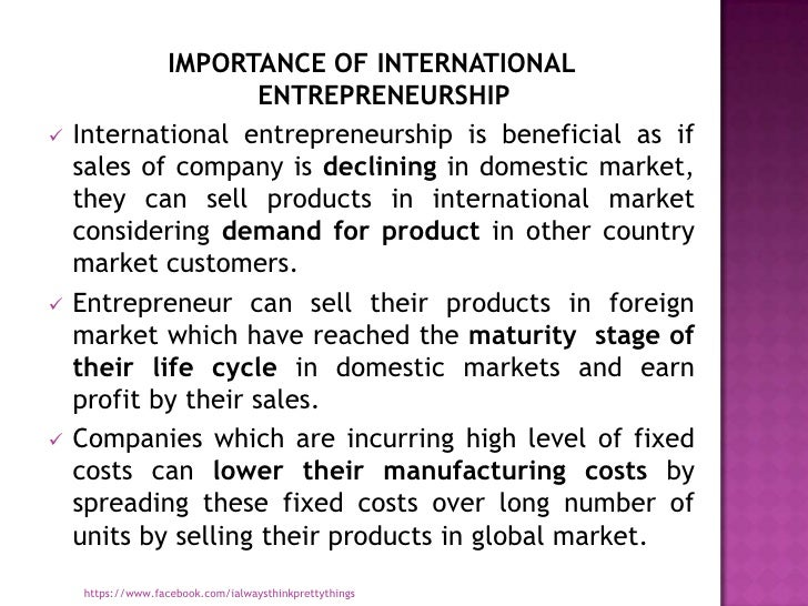 Entrepreneurship important in business and essential