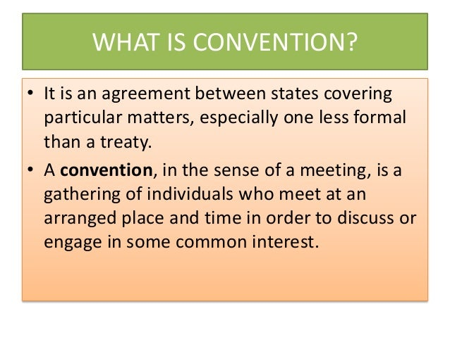 convention meeting