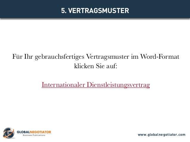 Internationaler Dienstleistungsvertrag Muster Und Vorlage