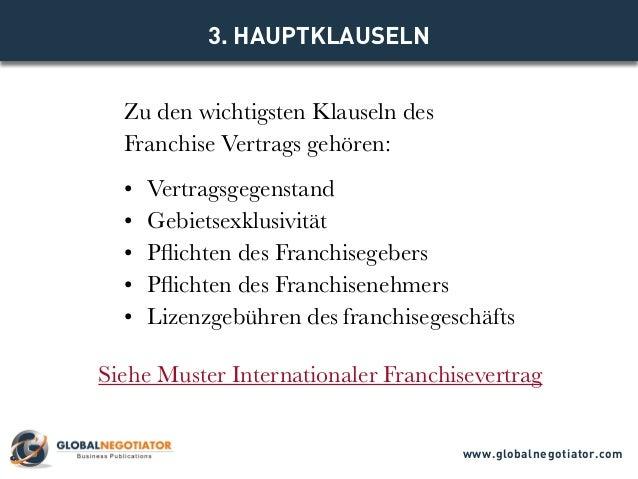 Internationaler Franchisevertrag Muster Und Vorlage