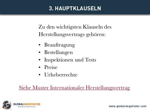 Internationaler Herstellungsvertrag Muster Und Vorlage