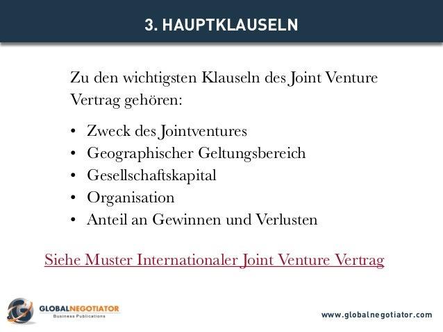 INTERNATIONALER JOINT VENTURE VERTRAG - Muster und Vorlage