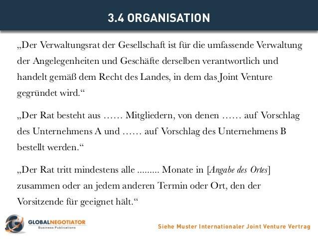33 gesellschaftskapital siehe muster internationaler joint venture vertrag 8 - Besichtigungstermin Vereinbaren Muster