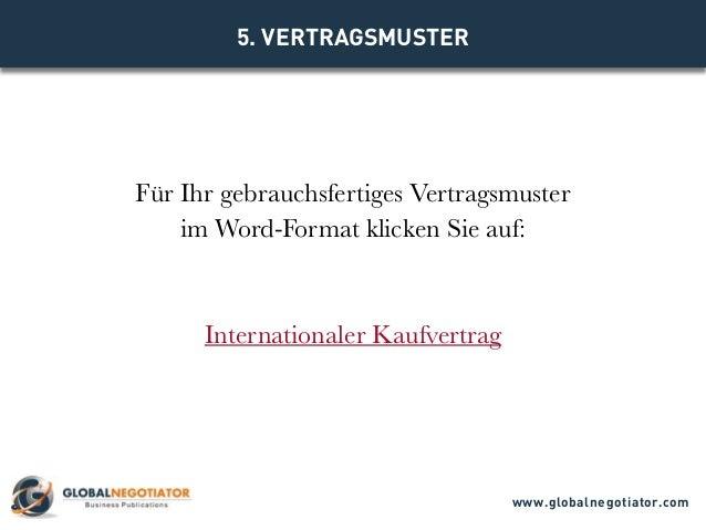 Internationaler Kaufvertrag Muster Und Vorlage