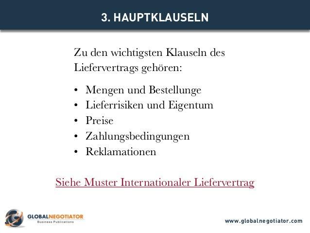 Internationaler Liefervertrag Muster Und Vorlage