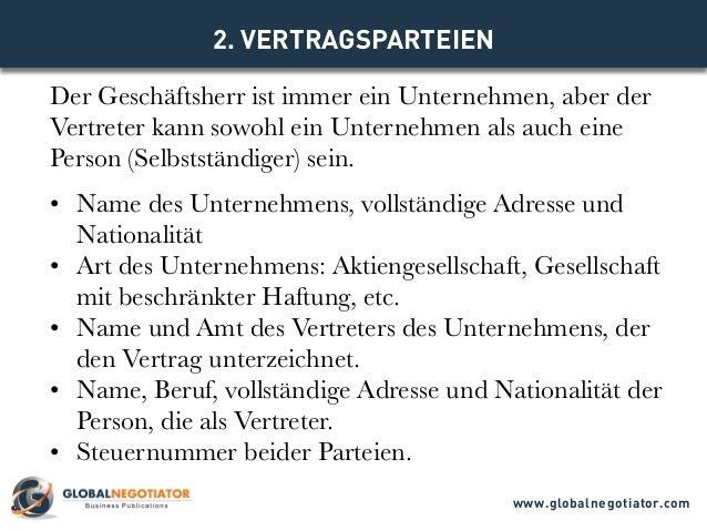 Internationaler Vertretungsvertrag Muster Und Vorlage