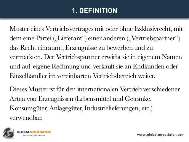 Internationaler Vertriebsvetrag Muster Und Vorlage