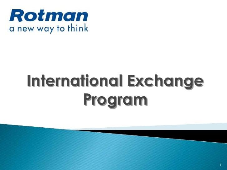 1<br />International Exchange Program<br />