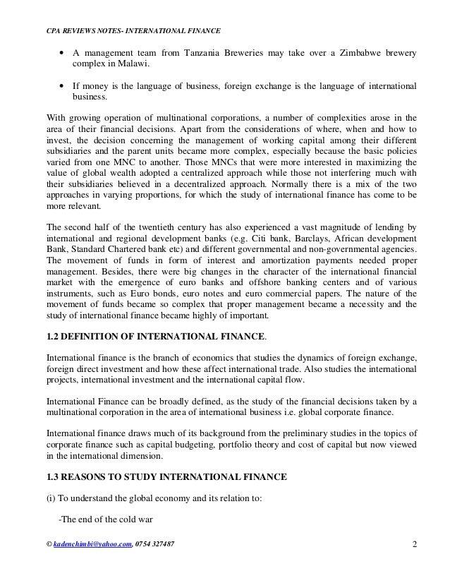 International finance Slide 2