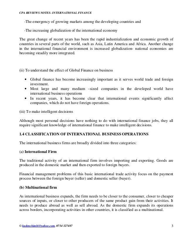 International finance Slide 3