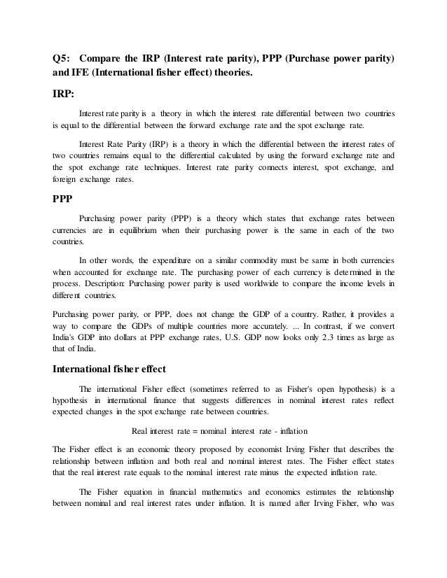 international finance second assignment 6