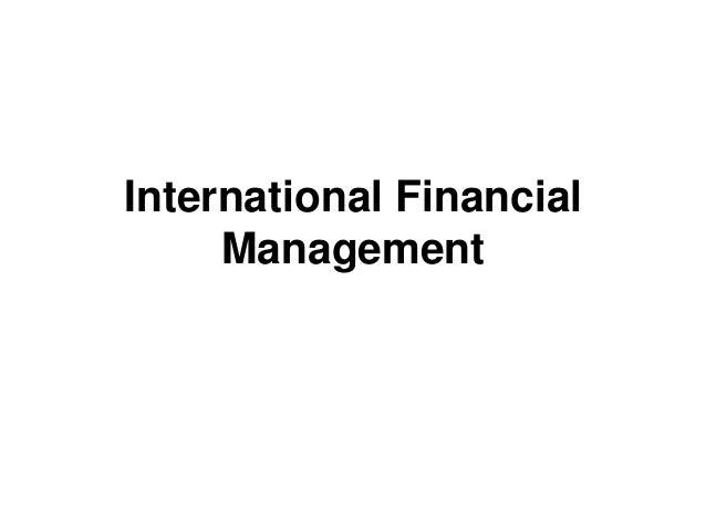 international financial management dissertation