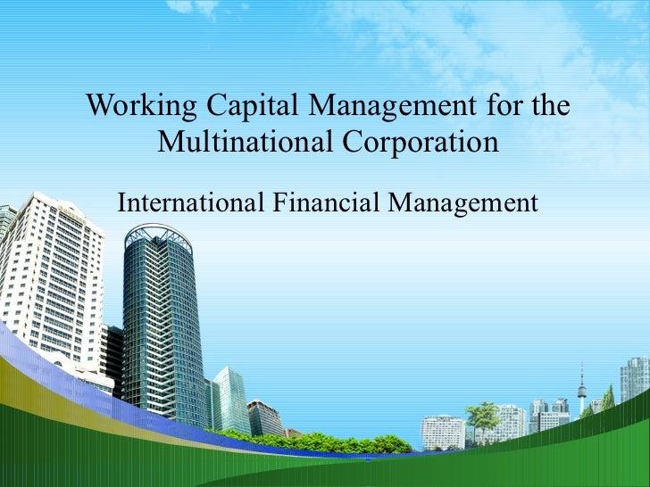 multinational financial management Multinational financial management: an overview chapter1 j gaspar: adapted from jeff madu ra, international financial management 1 1.