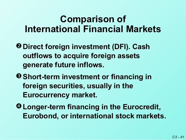 financial markets and export financing Towards better capital markets solutions for  following the global financial crisis, this source of financing has  in europe used debt capital markets for .