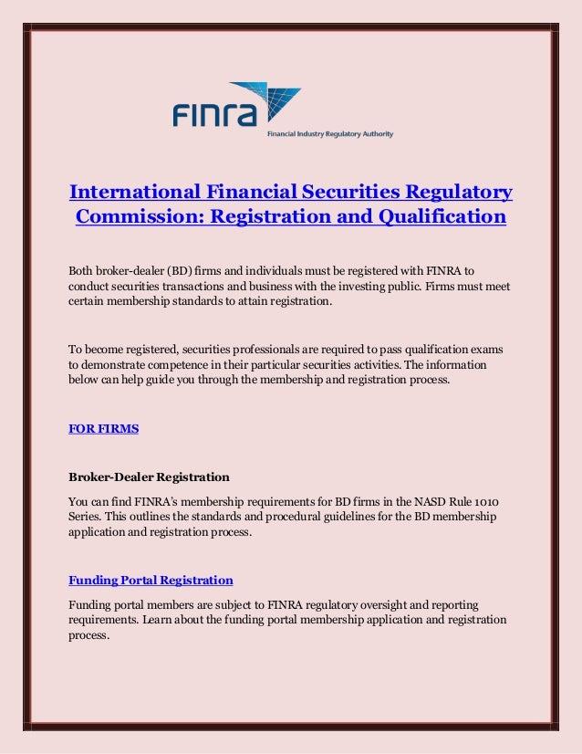 International Financial Securities Regulatory Commission Registration
