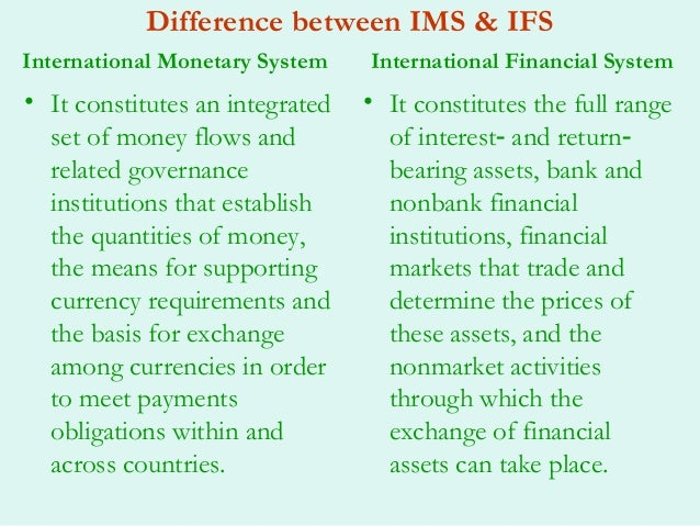 global financial system essay An exchange-rate system is the set of rules established by a nation to govern  managing global financial and foreign exchange rate  global exchange.