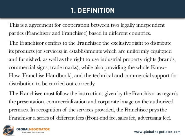 INTERNATIONAL FRANCHISE AGREEMENT TEMPLATE – Franchise Agreement Template