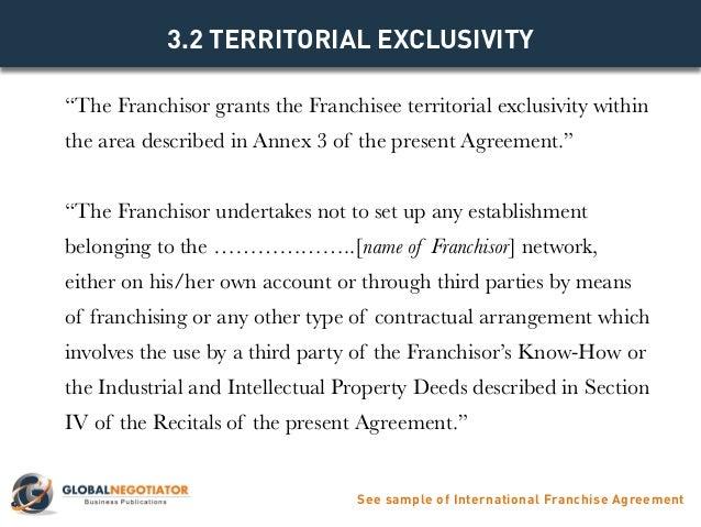 ... Sample Of International Franchise Agreement; 6.