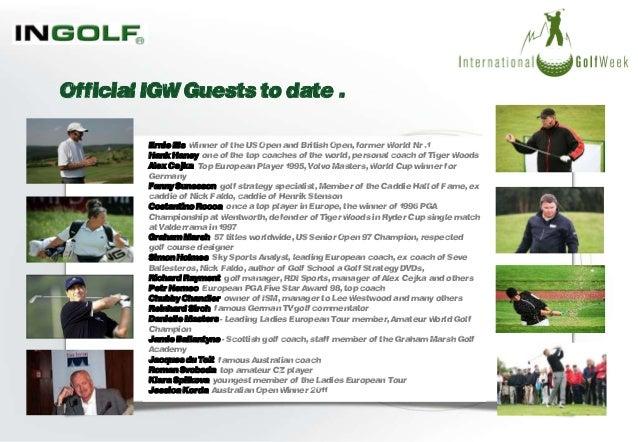 international golf week te event presentation. Black Bedroom Furniture Sets. Home Design Ideas