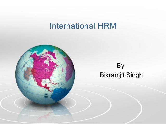 International HRM By Bikramjit Singh