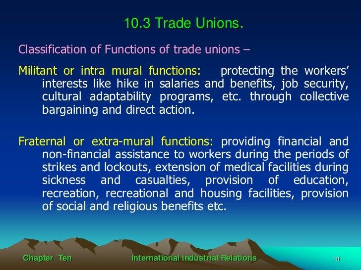 International industrial relations for Extra mural program