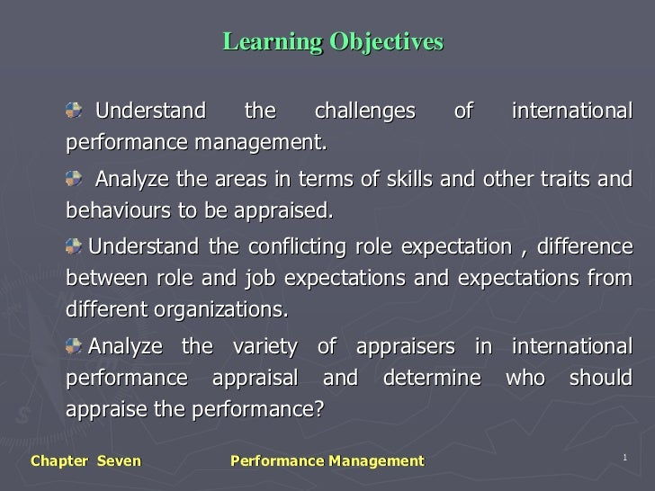 Learning Objectives       Understand   the  challenges           of   international    performance management.      Analyz...