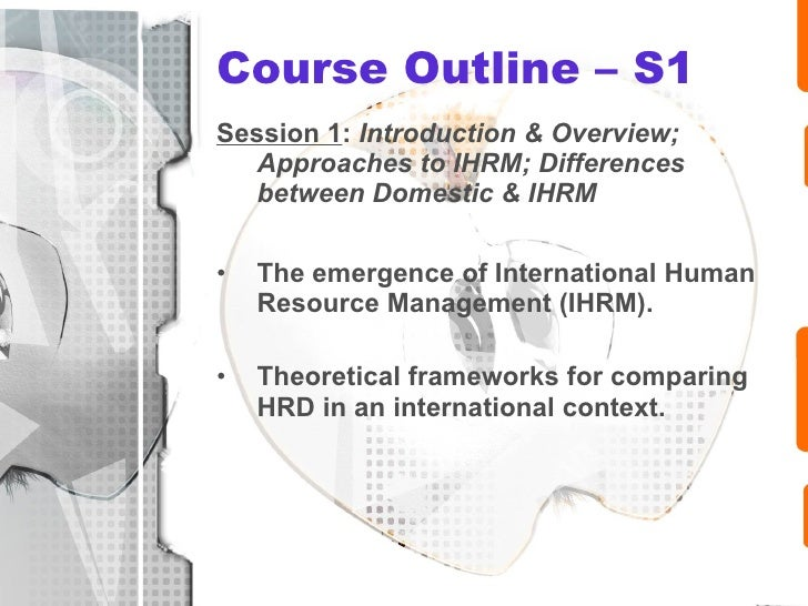 moderating the differences between domestic and ihrm Full-text paper (pdf): the challenge of international human resource management: balancing the duality of strategy and practice.