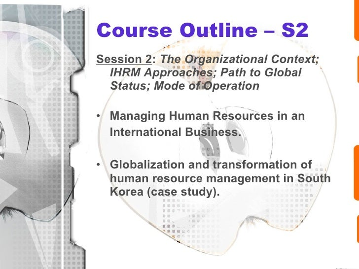 course outline of hrm