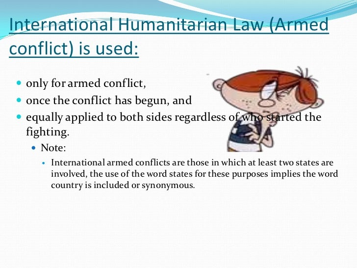 international humanitarian law essay The essay has to be a legal article2017 essay topic is: emerging challenge in the relationship between international humanitarian law and international human rights law essay guidelines: • articles must not exceed 35 pages in length, including footnotes.