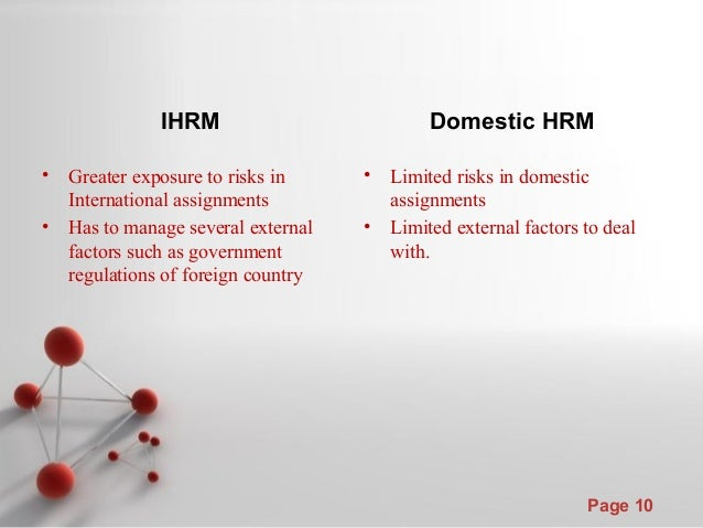 ihrm hrm difference The cultural perspectives on comparative hrm and we conclude with directions for future its attention on the difference between low context and high context.