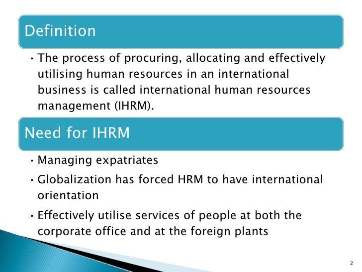 International Human Resource Managment Slide 2